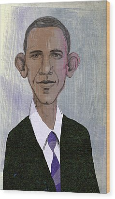 Barack Obama Wood Print by Steve Dininno