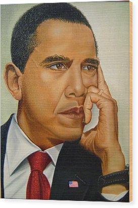 Barak H. Obama Wood Print by Yechiel Abramov