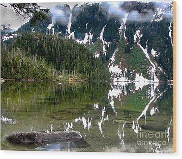 Baranof Lake Wood Print by Robert Bales
