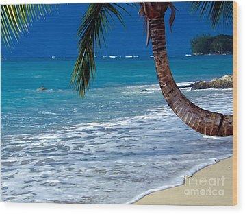 Barbados Beauty Wood Print by Sophie Vigneault