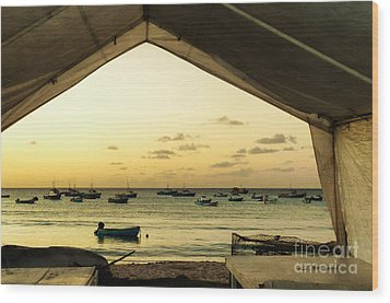 Wood Print featuring the photograph Barbados Fishing Boats In Oistens by Polly Peacock