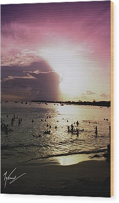 Barbados Sunset Wood Print by Max CALLENDER