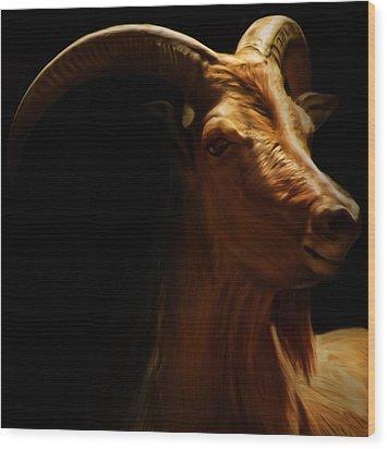 Barbary Sheep Portrait Wood Print by Lourry Legarde