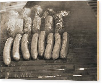 Barbecue Wood Print by Dan Sproul