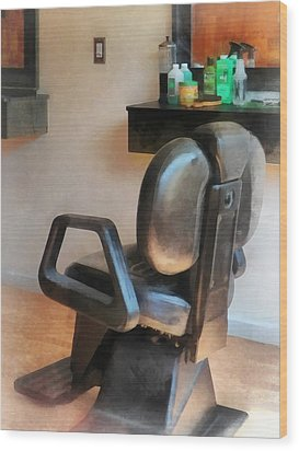 Barber - Barber Chair And Hair Supplies Wood Print by Susan Savad