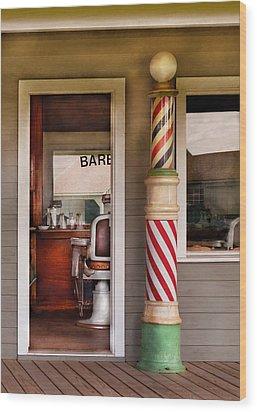Barber - I Need A Hair Cut Wood Print by Mike Savad