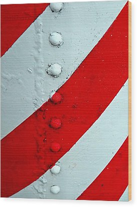 Barber Pole Wood Print by Chris Berry