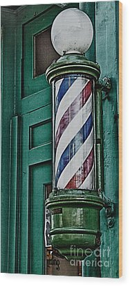 Barber Pole Wood Print