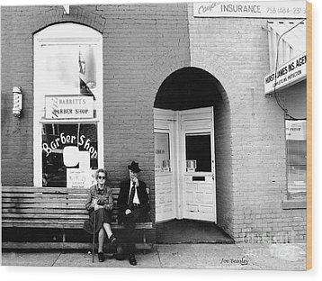 Barber Shop Watertown Tennessee Wood Print by   Joe Beasley