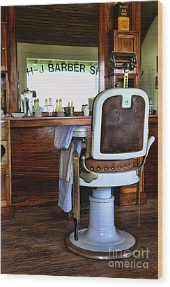 Barber - The Barber Shop Wood Print by Paul Ward