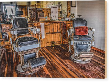 Barbershop Wood Print