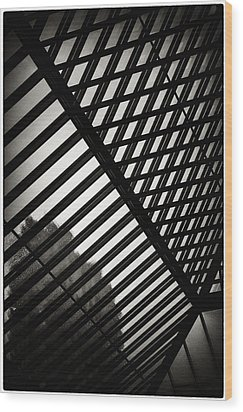 Barbican Grids Wood Print by Lenny Carter