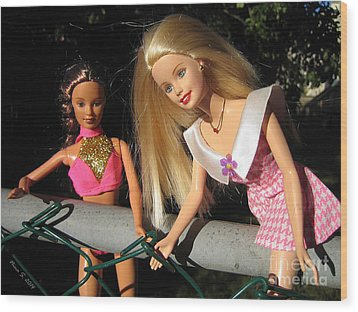 Wood Print featuring the photograph Barbie Escapes by Nina Silver