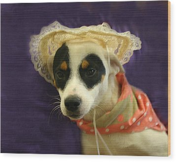 Barbie In A Hat Wood Print by Nina Fosdick