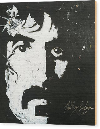 Barbosa Paints Zappa Wood Print