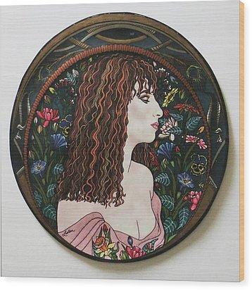 Barbra's Garden Wood Print