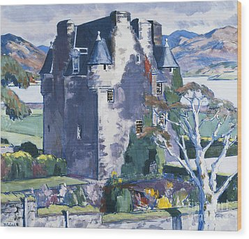 Barcaldine Castle Wood Print by Francis Campbell Boileau Cadell