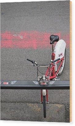 Barcelona Spain Bicycle Wood Print