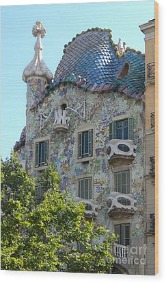 Barcelona Spain Wood Print by Gregory Dyer