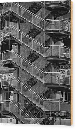 Barcelona Stairs II Wood Print by Louise Fahy