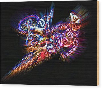 Barcia Whip Wood Print by Ethan Deloache