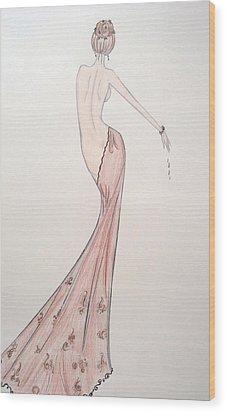 Barely Draped Wood Print by Christine Corretti