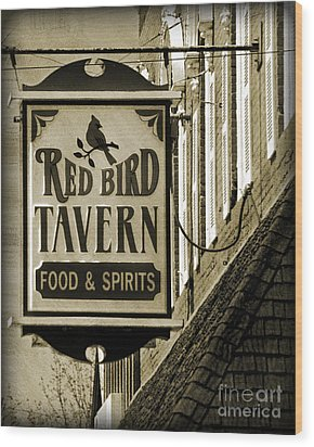 Wood Print featuring the photograph Barhopping At The Red Bird 2 by Lee Craig