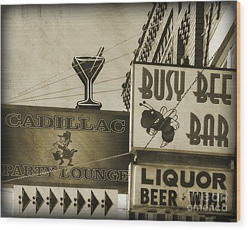 Wood Print featuring the photograph Barhopping Cadillac Style 2 by Lee Craig
