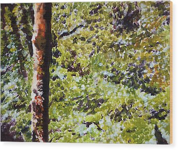 Wood Print featuring the painting Bark IIi by Elizabeth Lock