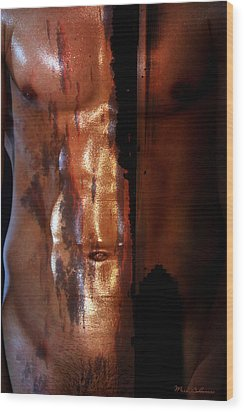 Barmuda Metallic  2 Wood Print by Mark Ashkenazi