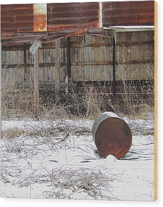 Barn #41 Wood Print by Todd Sherlock