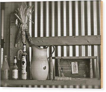 Barn Altar Wood Print by Kim Pippinger