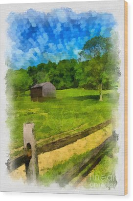 Barn At Hartwood Acres Wood Print by Amy Cicconi