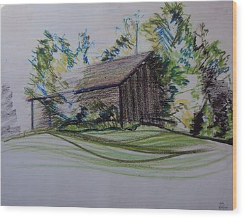 Old Barn At Wason Pond Wood Print by Sean Connolly