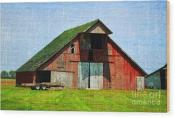 Barn - Central Illinois - Luther Fine Art Wood Print by Luther Fine Art