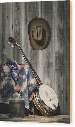 Barn Dance Hoe Down Wood Print by Tom Mc Nemar