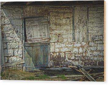 Barn Door Wood Print by Joan Carroll