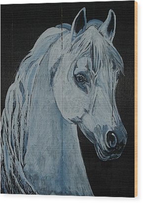Barn Ghost Wood Print by Sandra Wilson