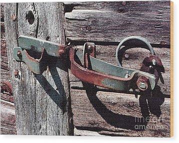 Wood Print featuring the photograph Barn Hinge by Susan Crossman Buscho
