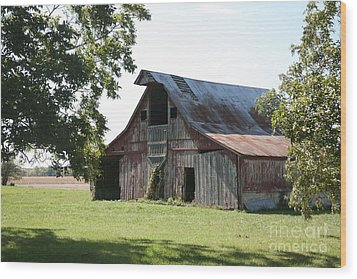 Barn In Missouri Wood Print