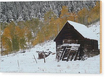 Barn In The San Juan Mountains Wood Print by Jetson Nguyen