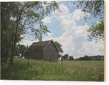 Barn Near Centralia Missouri Wood Print