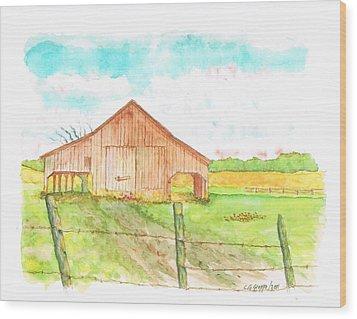 Barn - New Mexico Wood Print by Carlos G Groppa