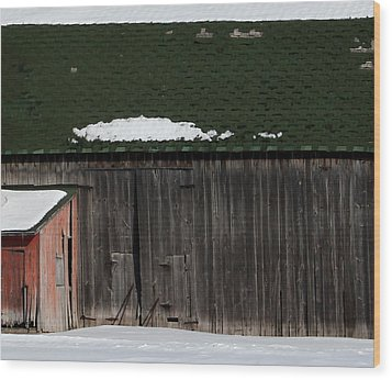 Barn Parts 10 Wood Print by Mary Bedy
