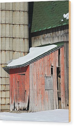 Barn Parts 12 Wood Print by Mary Bedy