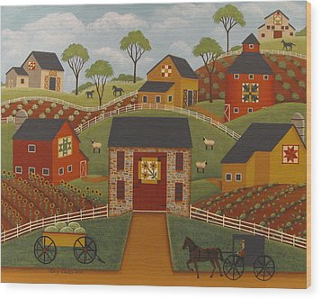 Barn Quilts Wood Print