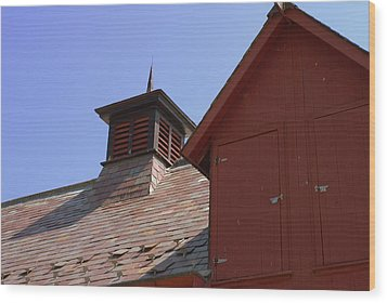 Barn Roof Wood Print