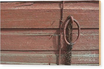 Barn Siding And Hardware Wood Print by Renie Rutten
