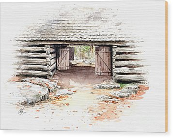 Barn Stalls Wood Print by Bob  George