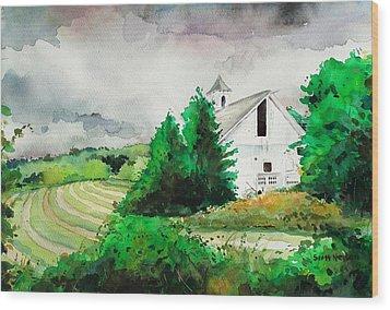 Barn Storm Wood Print by Scott Nelson